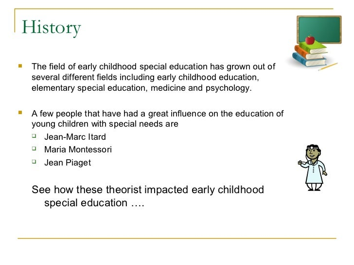 children education special needs essay In the early 1970's parents wanted to be assured of a suitable education for their children, so public law 94-142, the education for handicapped act (eha) , was passed which set guidelines for the services of special education (friend and bursuck, 2002).