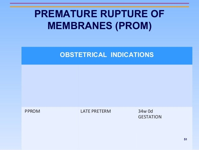 premature rupture of membranes guidelines