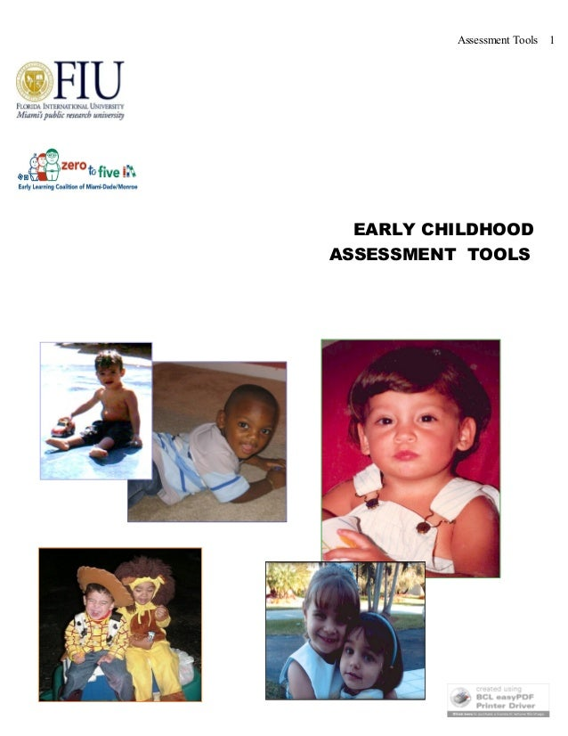 Assessment Tools 1EARLY CHILDHOODASSESSMENT TOOLS