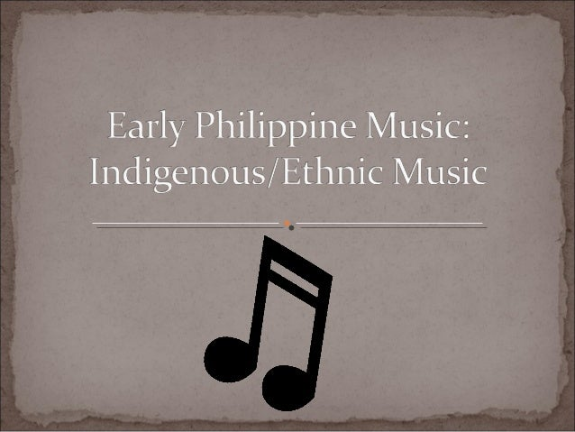 Early philippine music