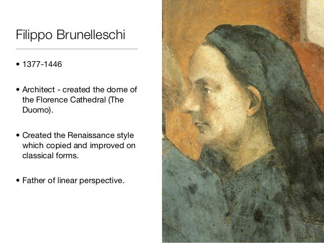 essay brunelleschis perspective system Filippo brunelleschi from academic kids he made early experiments with perspective in painting  solar system (http://www.