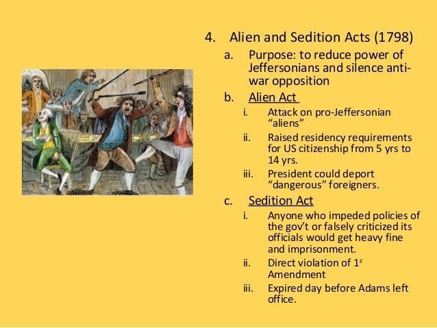 an analysis of the alien and sedition acts in 1798 Alien + sedition acts 8/25/2012 | a brief essay on the alien and sedition acts of 1798 and why they were alien and sedition acts rhetorical analysis.