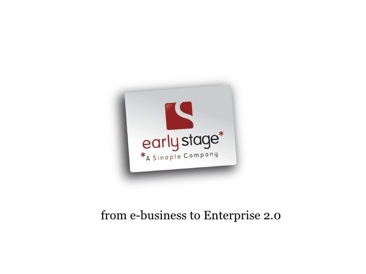 Earlystage Enterprise 2.0 Service Offering 2009