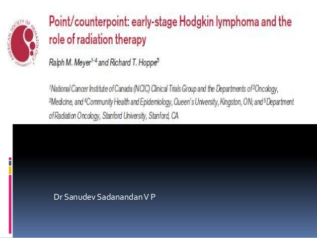 Early stage Hodgkin s lymphoma -Can we avoid Radiotherapy ?