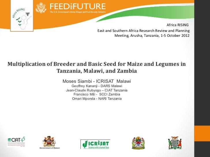 Africa RISING                                      East and Southern Africa Research Review and Planning                  ...