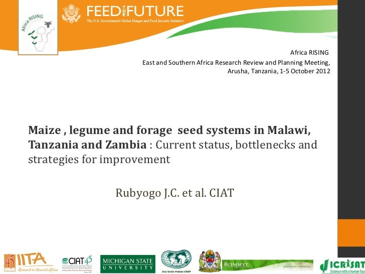 Africa RISING                     East and Southern Africa Research Review and Planning Meeting,                          ...