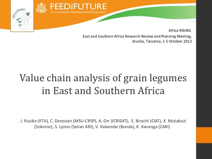Value chain analysis of grain legumes in East and Southern Africa
