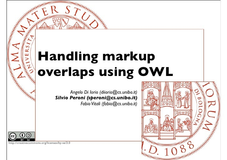 Handling Markup Overlaps Using OWL