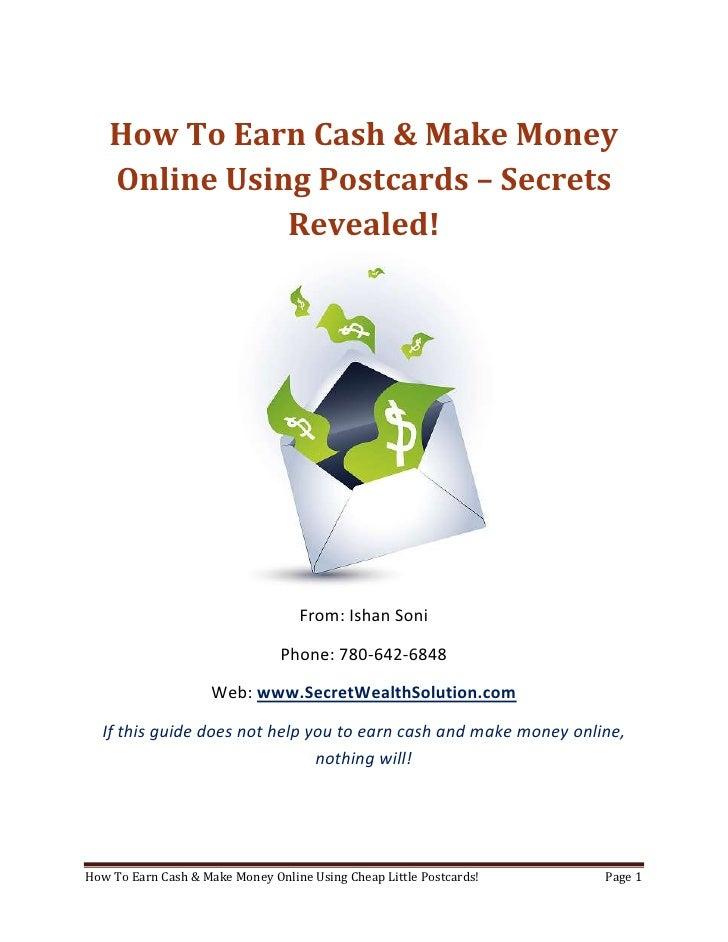 Earn Cash Make Money Online
