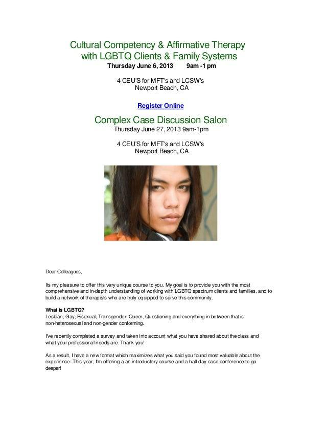 Earn CEUs - LGBTQ Affirmative Professional Salon - Lisa Maurel, MFT