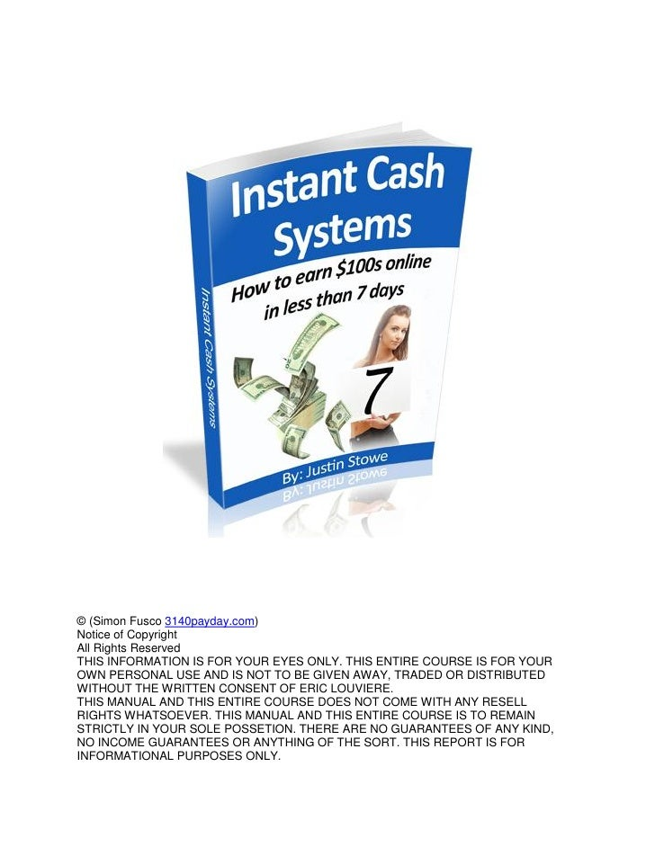 Earn Easy Money Online In Just 7 Days