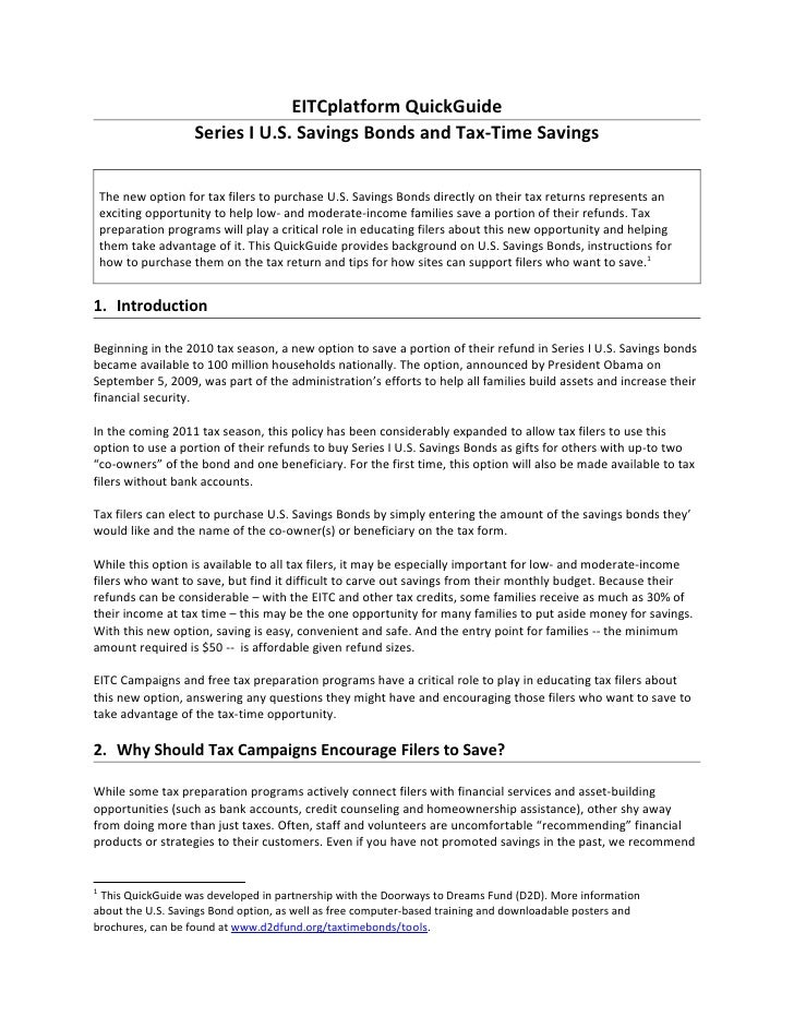 Earned Income Tax Credit Savings Quick Guide