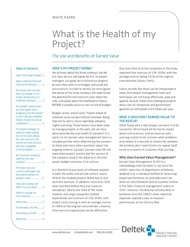 WHITE PAPER                                                 What is the Health of my                                      ...