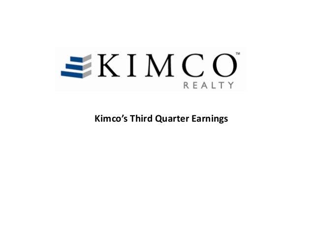 Kimco's Third Quarter Earnings