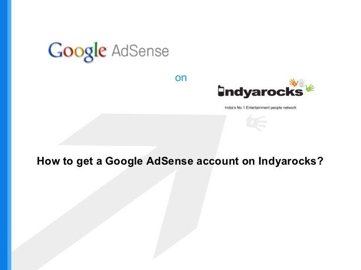 Earn Via Google AdSense on Indyarocks.com