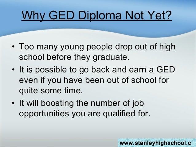 GED vs. High School Diploma?