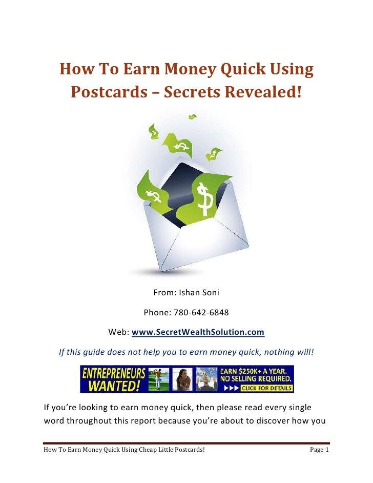 Earn Money Quick