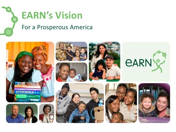 EARN's Vision<br />For a Prosperous America<br />