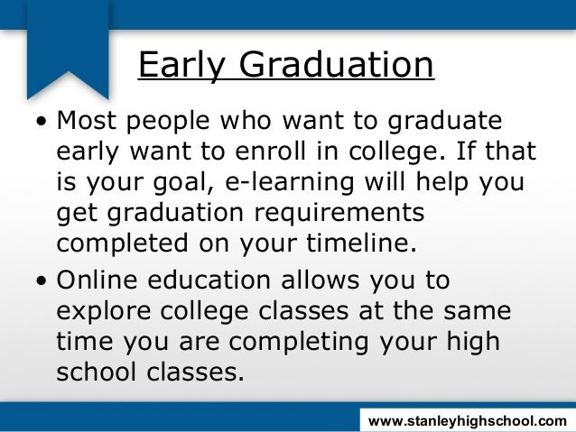 How do you graduate early from high school?