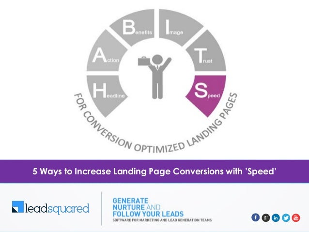 5 Ways to Increase Landing Page Conversions with 'Speed'