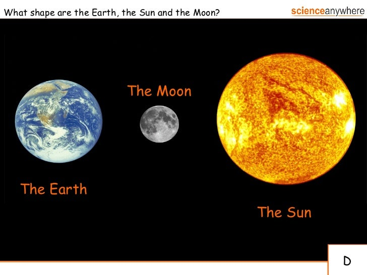 compare moon sun earth - photo #1