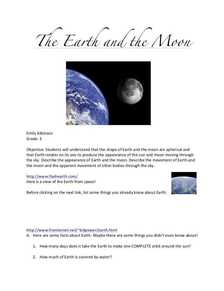 The Earth and the Moon                                                                                                    ...