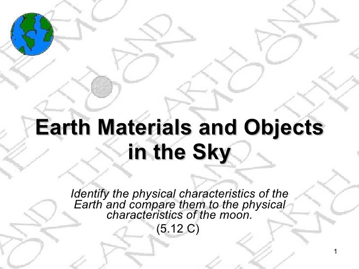 Earth and objects in the sky