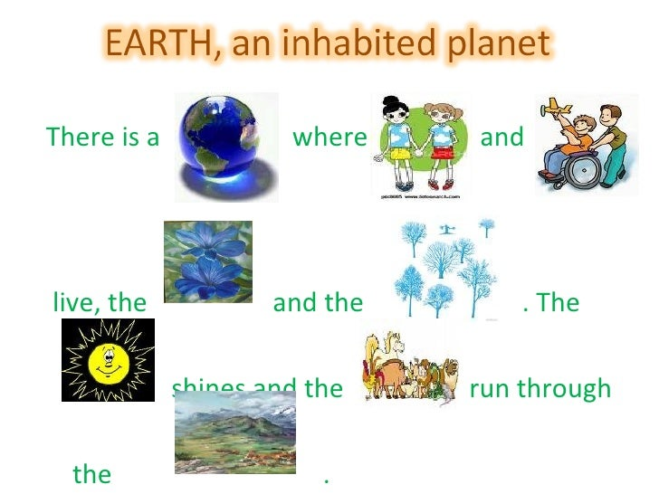 Earth, an inhabited planet. Extra activities