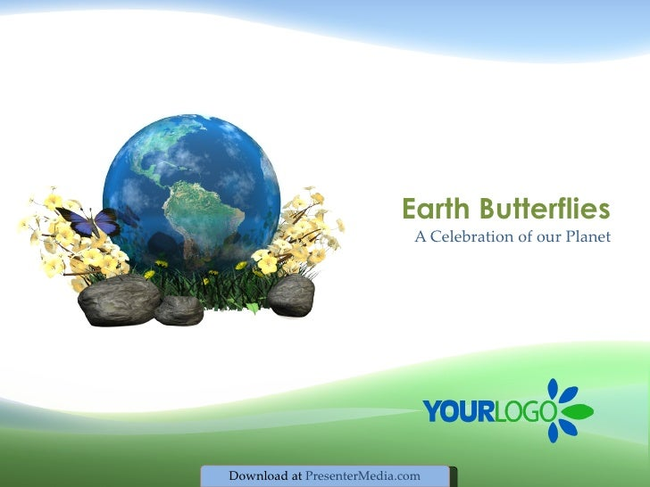 Environmental Earth Butterfly Template