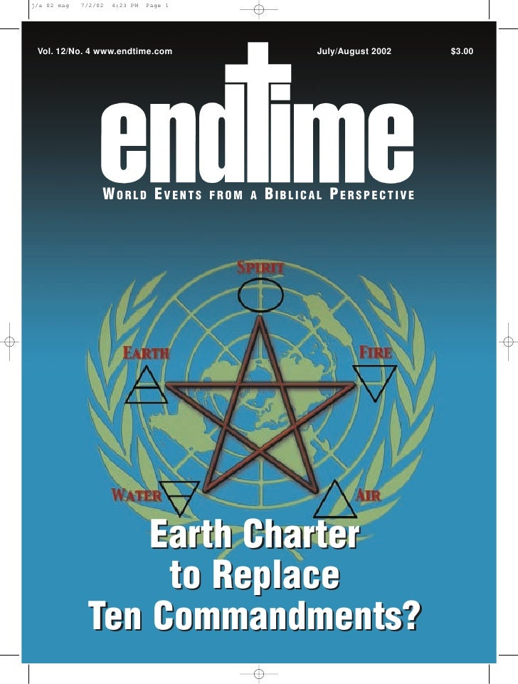 Earth charter to replace ten commandments   jul-aug 2002