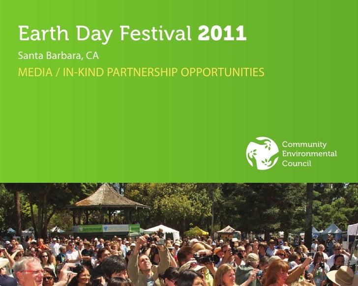 Earth Day Festival 2011Santa Barbara, CAMEDIA / IN-KIND PARTNERSHIP OPPORTUNITIES                                         ...