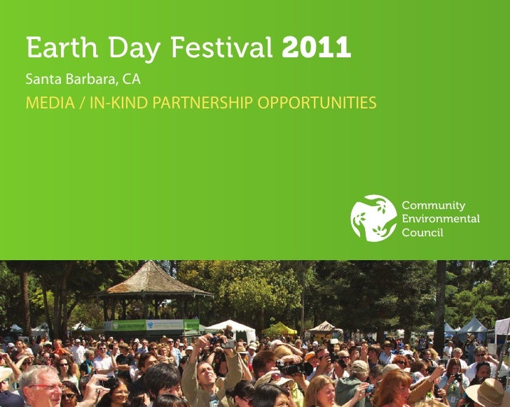Earth Day   Media And In Kind Partnerships