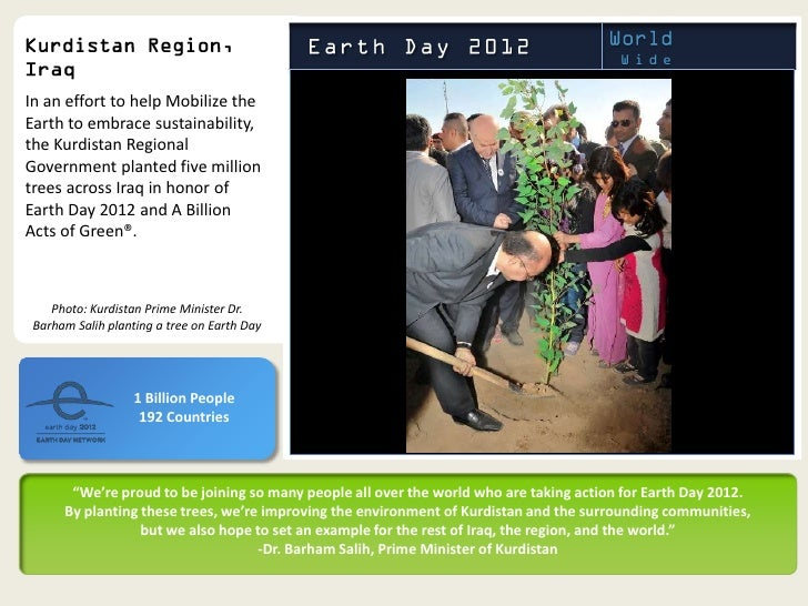 In an effort to help Mobilize theEarth to embrace sustainability,the Kurdistan RegionalGovernment planted five milliontree...