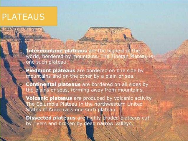 Earthforms - Definition d un plateau ...