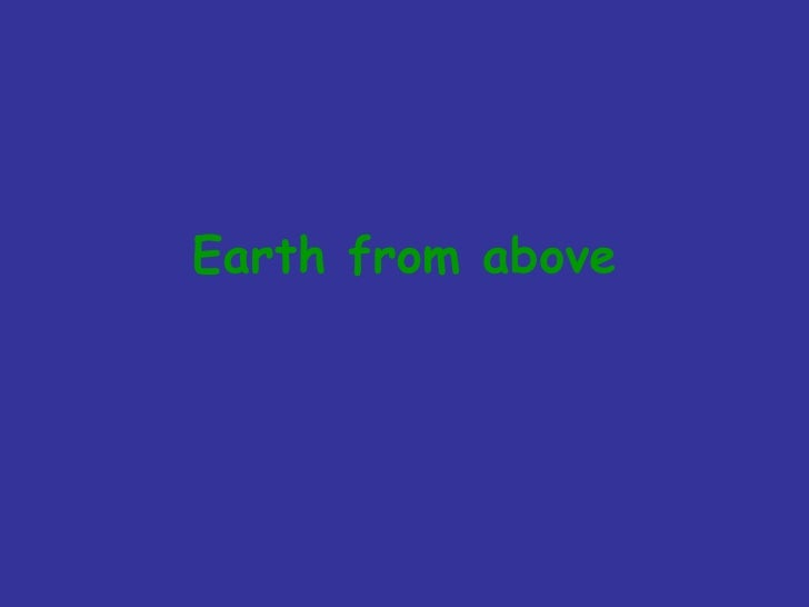 Earth from above