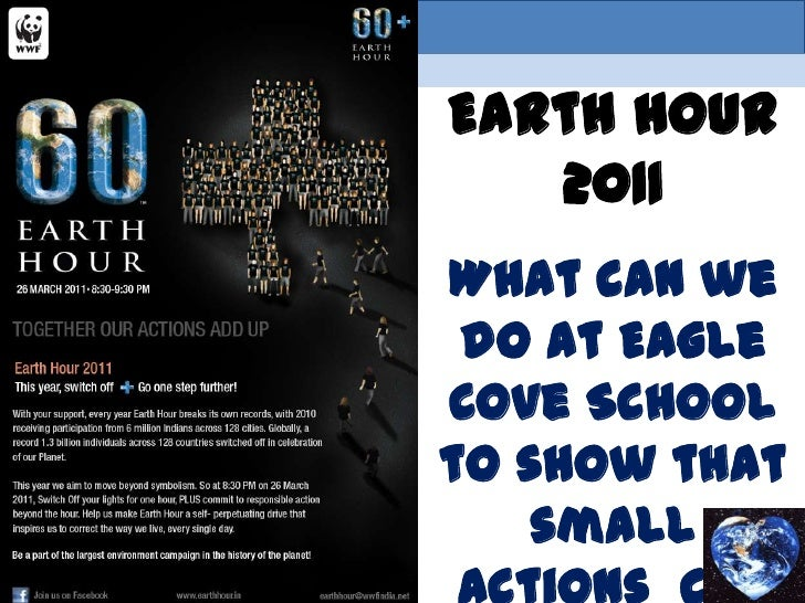 Earth Hour 2011<br />What can we do at Eagle Cove School to show that <br />small actions  can make a big <br />   differe...