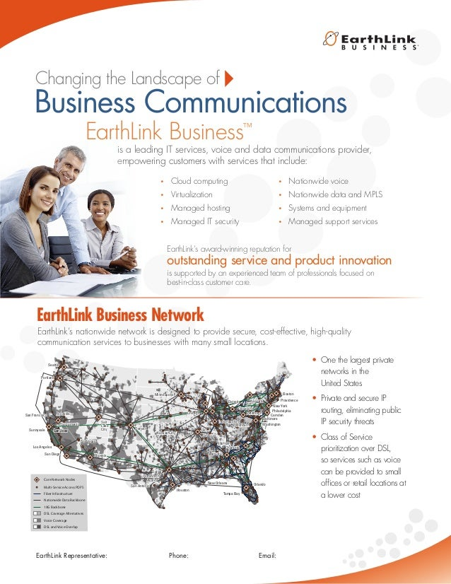 is a leading IT services, voice and data communications provider, empowering customers with services that include: EarthLi...