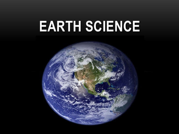 Earth science<br />