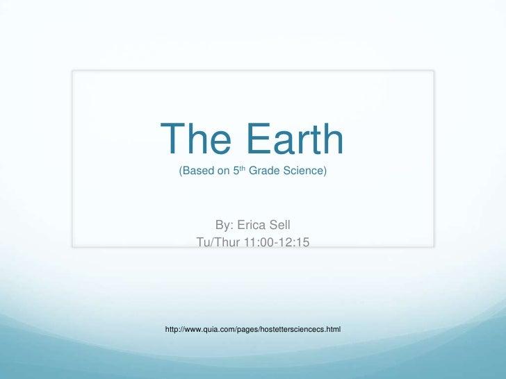 Earth Presentation 1
