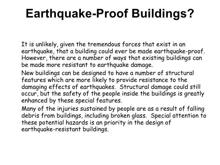 Earthquake Proof Buildings Gcse Earthquake-proof Buildings