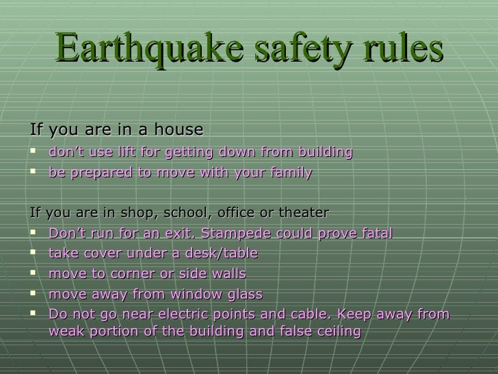 Earthquake ppt for Where do you go in an earthquake