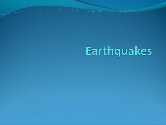 3 Key Terms FOCUS – starting point of earthquake, deep underground EPICENTRE – Point on surface, directly above focus. E...
