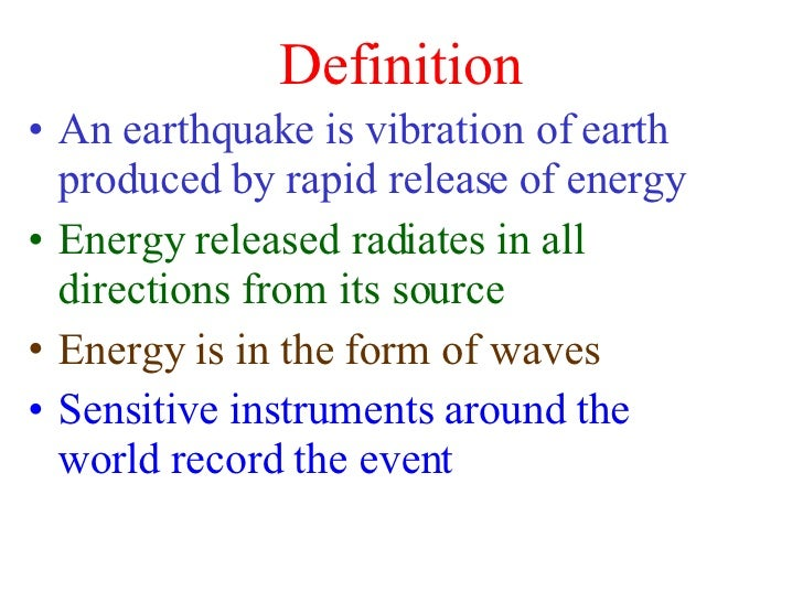the occurence of the earthquake essay An earthquake (also known as a quake, tremor or temblor) is the result of a sudden release of energy that cause violent shaking of the ground in the earth's crust that creates seismic waves sometimes causing great destruction, as a result of movements within the earth's crust or volcanic action.