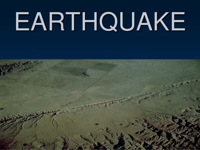 Earthquakes(1)