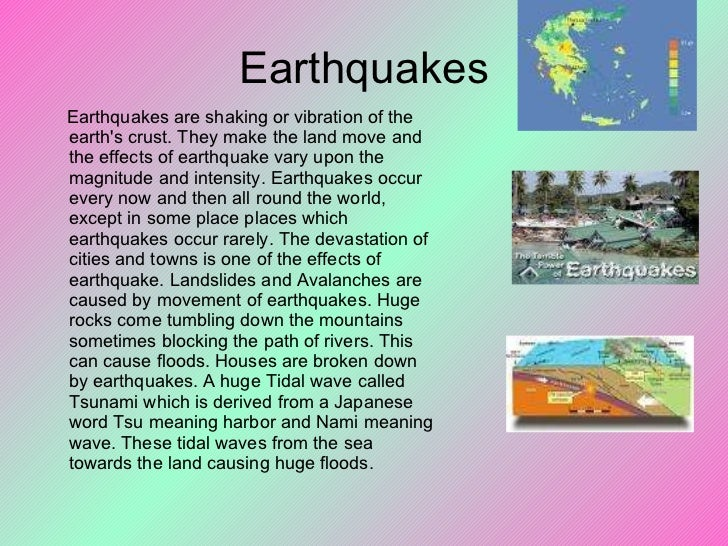 essay questions on earthquakes Read this social issues essay and over 88,000 other research documents loma prieta earthquake on october 17, 1989 at approximately 5:04 pm, a 71 magnitude earthquake shook the oakland and san francisco areas the.