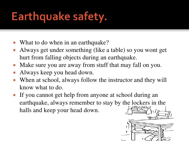Earthquake safety power point for Where to go in an earthquake