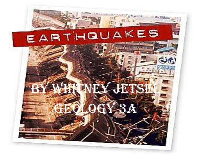 Earthquakes Extra Credit
