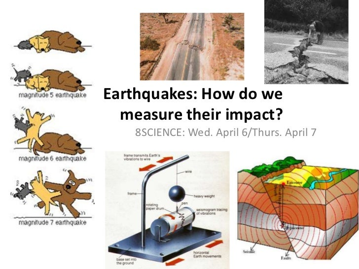 Earthquakes: How do we measure their impact?<br />8SCIENCE: Wed. April 6/Thurs. April 7<br />