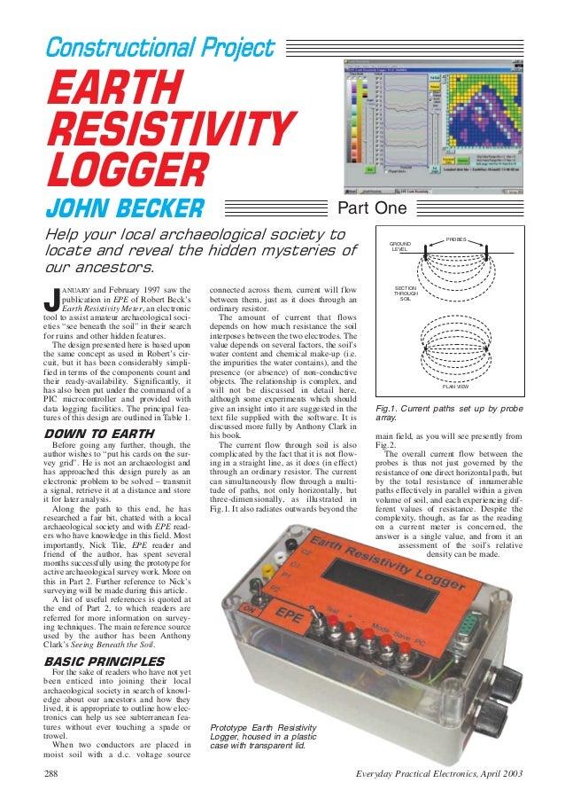 Earth resistivity logger (john becker)