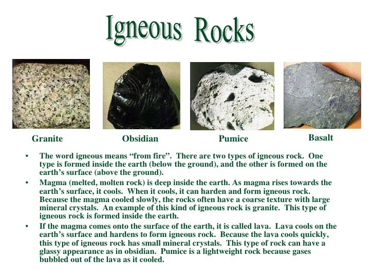 igneous rocks research paper An igneous rock is formed by the cooling and crystallization of molten rock the term igneous is derived from ignius , the latin word for fire scientists have divided igneous rocks into two broad categories based on where the molten rock solidified.